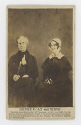 1861 Henry Clay And Wife Cdv Photo With James Cremer Id From Brady Daguerreotype