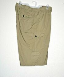 Route 66 Cargo Shorts Menand039s Size 40 Tan Casual Button Fly 100 Cotton