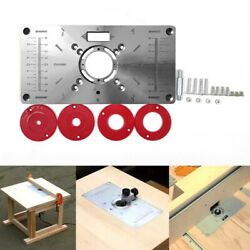 Multifunctional Router Table Insert Plate Woodworking Benches Durable