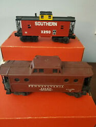 Lot Of Two Lionel Caboose S 536417 N5c And 26590 Southern X250
