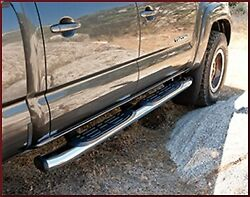 Oem Toyota Tacoma 2011-2020 5-in. Oval Tube Steps Chrome - Double Cab Short Bed