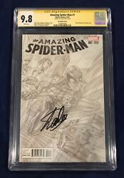 Amazing Spider-man 1 Ross Sketch Variant Cgc 9.8 Signed By Stan Lee On 11/4/18
