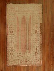 Antique Decorative Turkish Oushak Column Rug Size 3and0394and039and039x5and0398and039and039