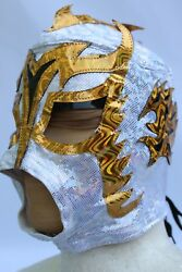 22.-young - Ultimo Dragon - Lycra - Lace Up Back - Wrestling Mask Youth Joven