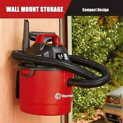 Vacmaster Portable Car Shop Vac Wet Dry Vacuum Cleaner 3 In1 Wall Mount Vacume