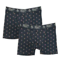 Original Penguin Menand039s 2 Pack Navy Pink All Over Pete Boxer Brief
