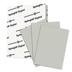 Springhill Gray Colored Cardstock Paper 110lb Index 199 Gsm 85 X 11 Card Stock