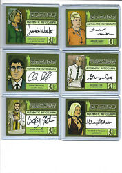 Archer Seasons 1-4 - Autograph, Wardrobe And Sketch Card Selection Nm Cryptozoic