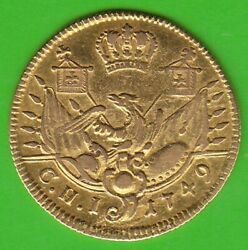 Gold Prussia 1/2 Friedrichs D´ Or 1749 Berlin Very Fine Very Rarely Nswleipzig