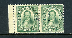 Canal Zone Scott 67c Overprint Reading Down Double Error Mint Pair Of Stamps