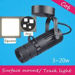 Dimmable Square Spotlights Background Led Track Light Lamp Zoom Lighting