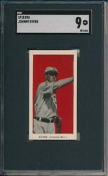 Johnny Evers 1910 E98 Black Swamp Find Sgc 9 Well Centered