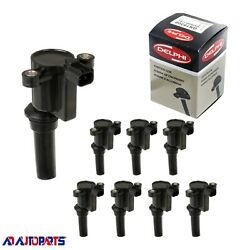 Set Of 8 Delphi Ignition Coil Gn10300 Uf162 For Ford Taurus 3.0l 3.4l 1996-1999