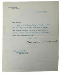 Theodore Roosevelt Signed White House Presidential Letter 1903 Bas A67841