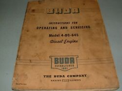 1940's Buda Company Model 4dc-645 Diesel Engine Service And Operating Manual