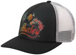 Hurley Retro Beach Women#x27;s Trucker Hat Black New $24.95