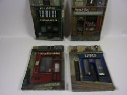 Chiu Tak Hak French Art 3d Wall Plaques 4 Piece Set Pre-owned Store Front