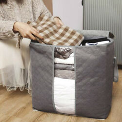 Large Foldable Non woven Clothes Quilt Blanket Zipper Storage Bag Organizer Box