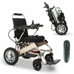Bronze Foldable Electric Remote Control Wheelchair Medical Mobility Power Chair