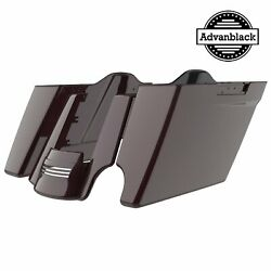 2-1 Black Cherry Stretch Extend Saddlebags Fit 14-20 Harley Street Road Electra