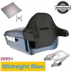 Midnight Blue King Tour Pak Pack Luggage Trunk For Harley 1997+