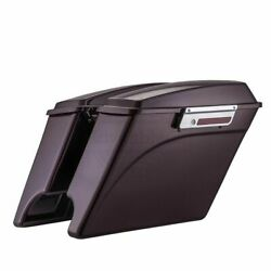 Black Cherry Stretched Saddlebags For 97-13 Harley Road Street Electra Touring