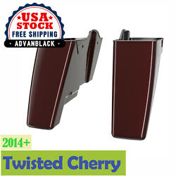 Twisted Cherry Dual Uncut Extended Saddlebag Bottom 2014+ Street Road Electra