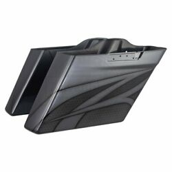 Charcoal Pearl Airbrush Extend Uncut Saddlebag Bottom For 14+ Harley Street Road