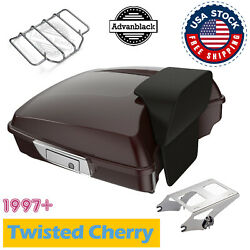 Twisted Cherry Sunglo Tour Pack Pak Luggage Trunk Fit 1997-20 Harley Road Street