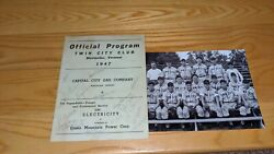 1947 Twin City Trojans Vermont Champions Signed Program W/robin Roberts Our Coa