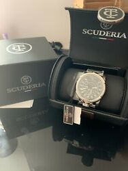 Ct Scuderia Menand039s Swiss Automatic Dashboard Stainless Steel Bracelet Watch 44mm