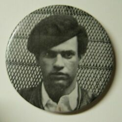 60s Huey Newton Black Panthers Original Political Picture Button Pin