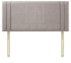 Headboard Turin Fabric 20 Side Pannel Upholstered Bed - All Sizes And Colours