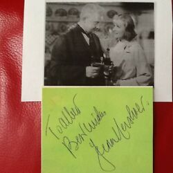 Jean Hersholt Signed Autograph Paper Mgm Character Actor Greed Heidi 4 Horsemen