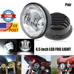 2x 4.5 Inch 60w Led Spot Fog Passing Lights Driving Lamps For Harley Davidson