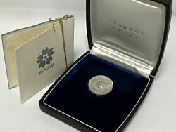 Rare 1970 Japan World Exposition Pure Platinum Medal With Case 27.1g Pt1000