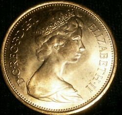 Extremely Rare 1971 2 New Pence Coin Uncirculated Hi Grade From The Uk