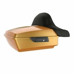 Wrap-around Backrest Hard Candy Gold Flake Chopped Tour Pack Fits 97-20 Harley