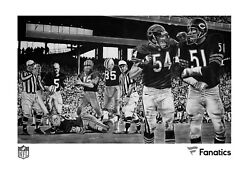 All-time Linebackers Super Limited Signed By Dick Butkus