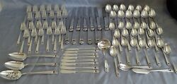 Is 1847 Rogers Usa Eternally Yours 82pc Set Silverplate Flatware