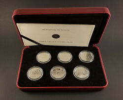 2005 Canada Sterling Silver 50 Cent Set Of 6 World War Ii Commemorative Coins