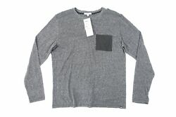 Threads 4 Thought Tm22117 Gris Noir Large Poche Clair T-shirt Pull Hommes Neuf