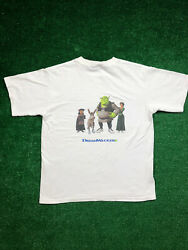 1/1 Ultra Rare Vintage 2001 Shrek The Movie Promo Dreamwalkers Graphic T Size M