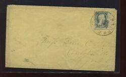 Confederate States 9 And039ten Centsand039 Used Stamp On Nice Cover W/pf Cert Csa9-pfc1