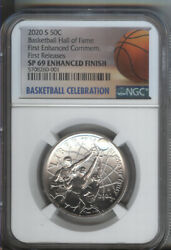 2020-s Enhanced Basketball Hall Of Fame 50 Cent Ngc Specimen 69 - First Releases