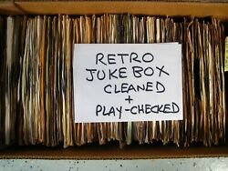 RETRO JUKEBOX you select 45 rpm vinyl HIT records CLEANED AND PLAYS VG or NM .