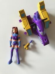 """Teen Titans Go 2003 2004 Starfire 3,5"""" Rare Action Figure With Gun And Vehicle"""