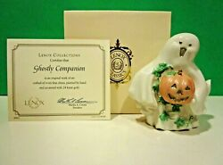 Lenox Ghostly Companion Halloween Sculpture New In Box With Coa Ghost Pumpkin