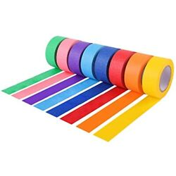 Colored Masking Tape/painters Tape Kids Craft Set - 8 Different 16 Yards X Inch