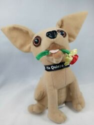 Taco Bell Chihuahua Dog Plush W/ Rose In Mouth - Talking Element Works Vintage